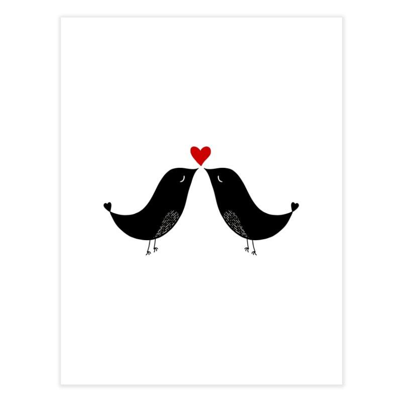 Love Birds 2 Home Fine Art Print by WaWaTees Shop