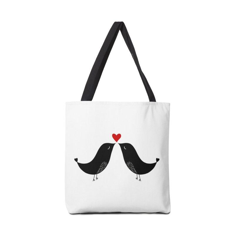 Love Birds 2 Accessories Bag by WaWaTees Shop