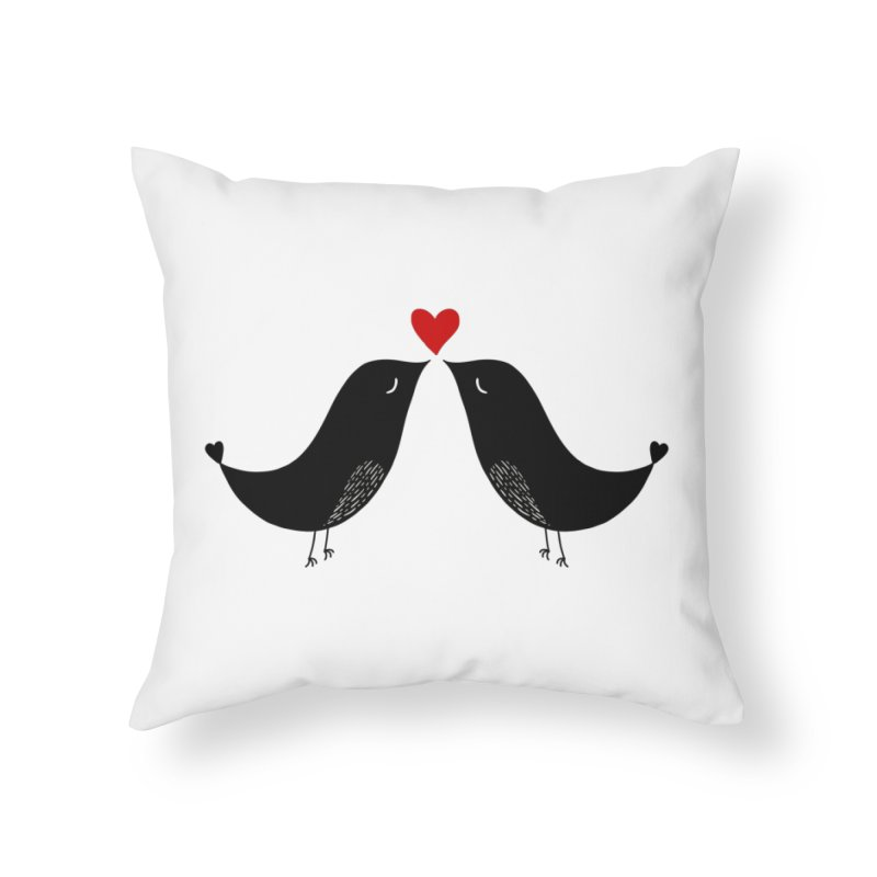 Love Birds 2 Home Throw Pillow by WaWaTees Shop