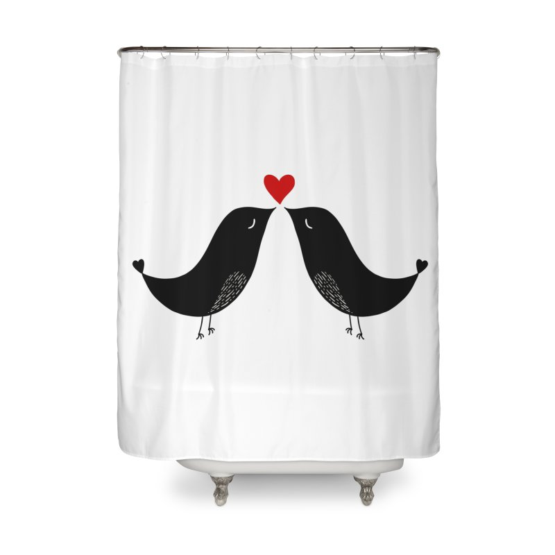 Love Birds 2 Home Shower Curtain by WaWaTees Shop