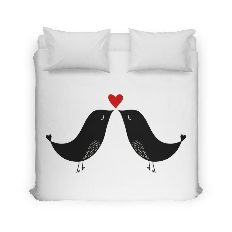 Love Birds 2 Home Duvet by WaWaTees Shop