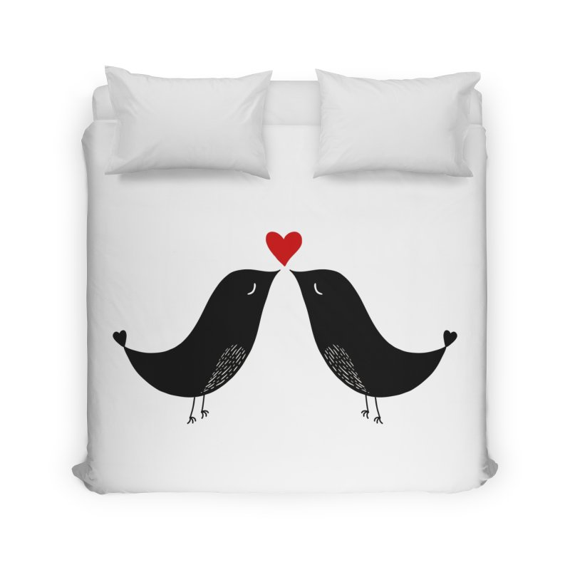 Love Birds 2 Home Duvet by WaWaTees Shop