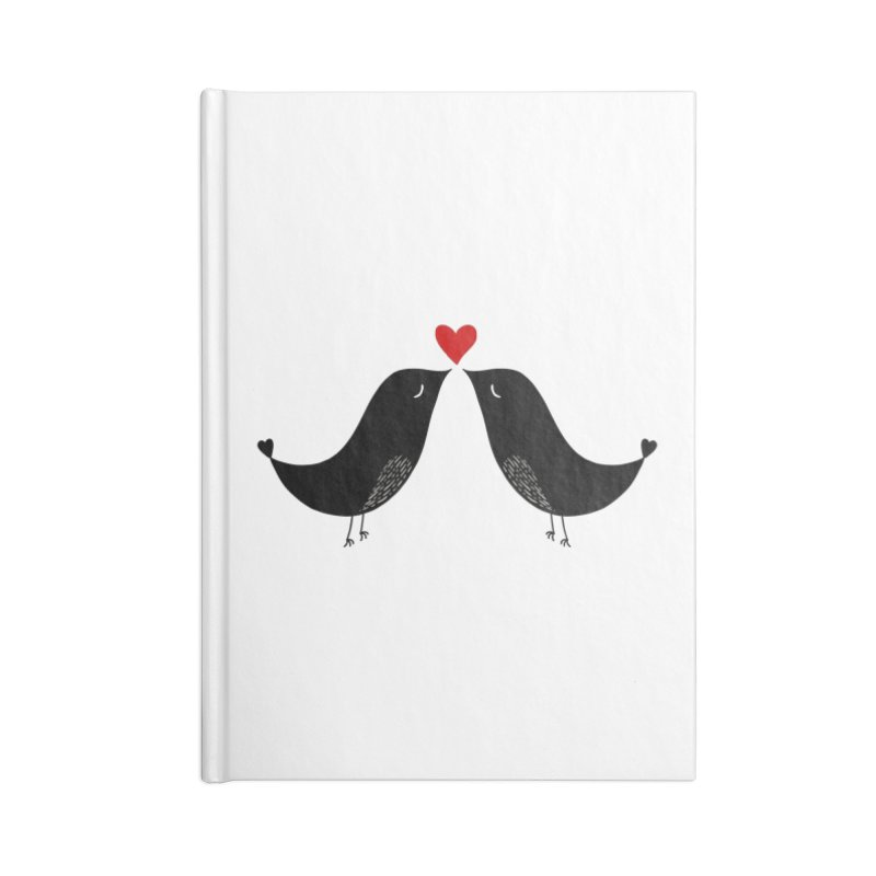 Love Birds 2 Accessories Notebook by WaWaTees Shop