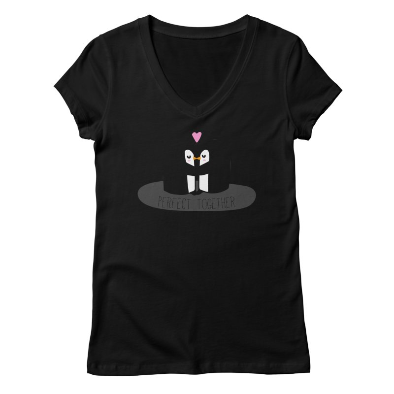 Perfect Together Women's V-Neck by WaWaTees Shop