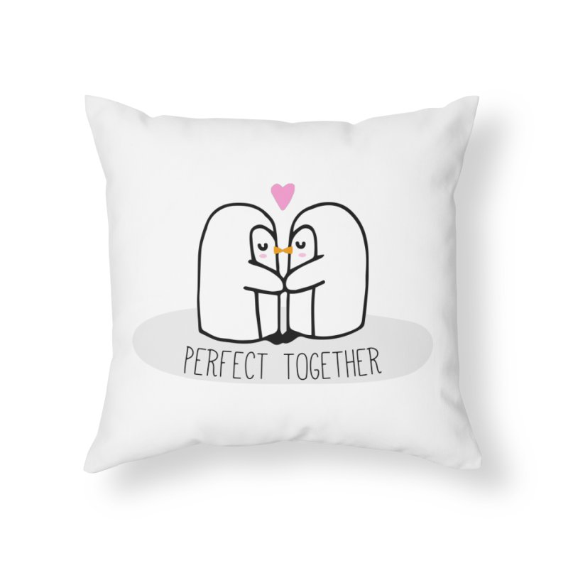 Perfect Together Home Throw Pillow by WaWaTees Shop