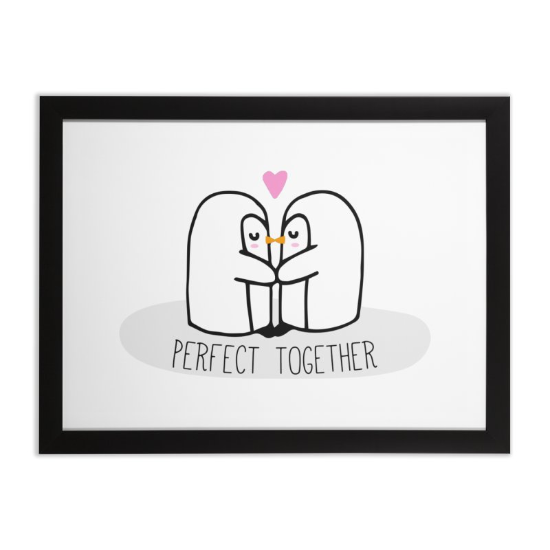 Perfect Together Home Framed Fine Art Print by WaWaTees Shop