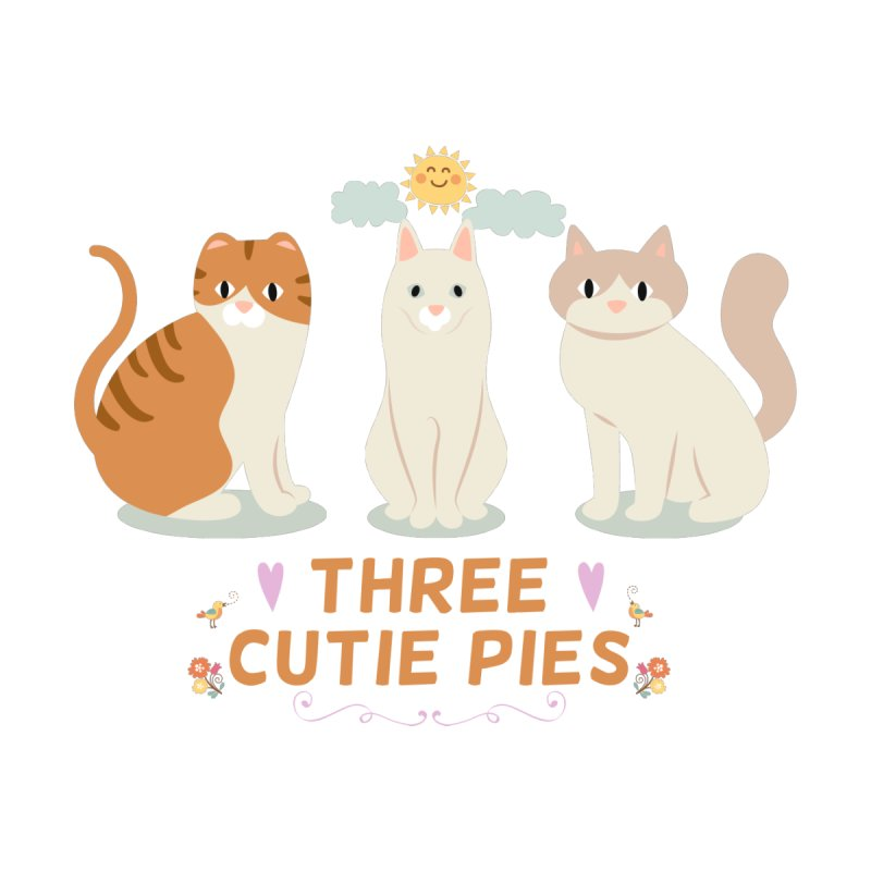 Three Cutie Pies None  by WaWaTees Shop