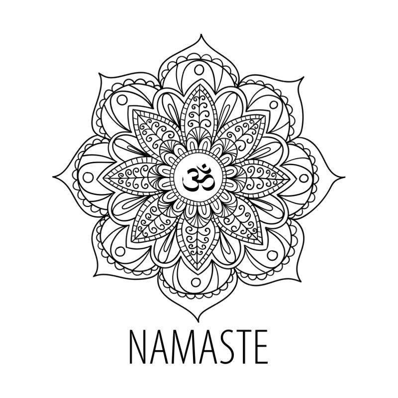 Namaste (Black) None  by WaWaTees Shop