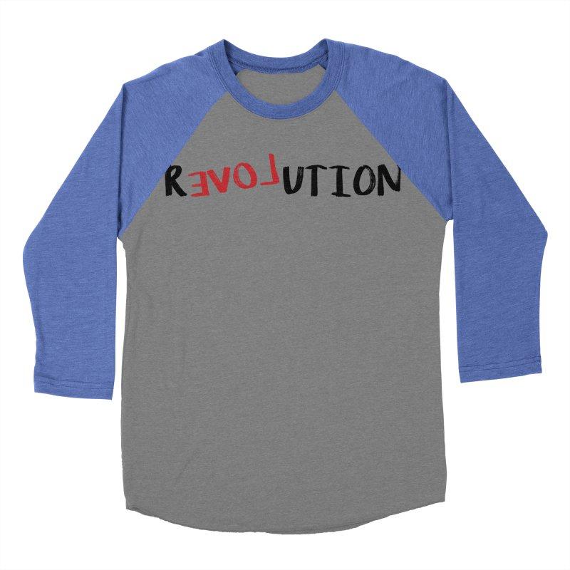 R evoL ution (Black) Women's Baseball Triblend T-Shirt by WaWaTees Shop