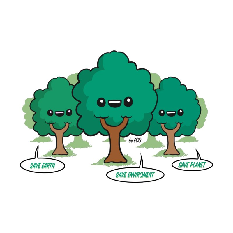 Save the Planet Trees by WaWaTees Shop
