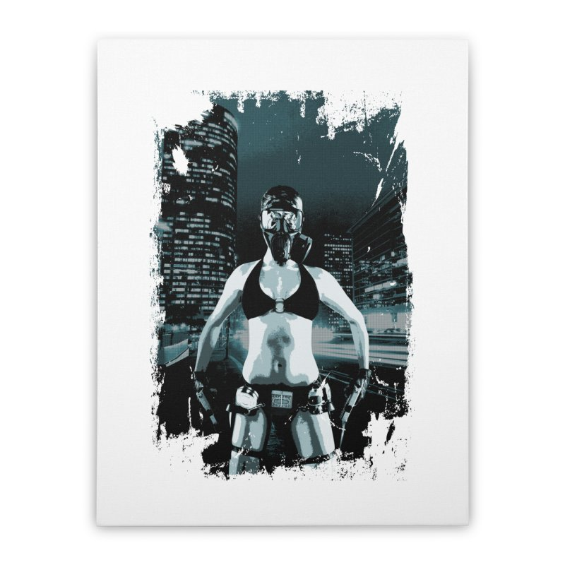 Masked Sexy Killer Home Stretched Canvas by WaWaTees Shop