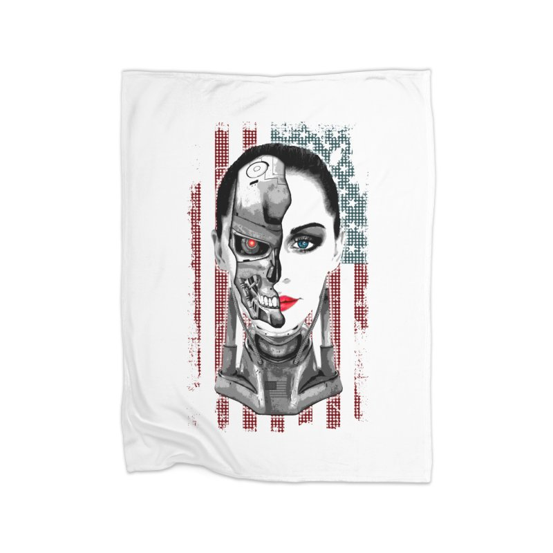 Cyborg Trophy Home Blanket by WaWaTees Shop