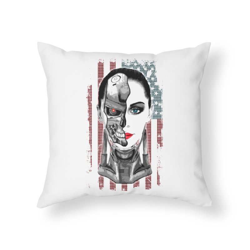 Cyborg Trophy Home Throw Pillow by WaWaTees Shop