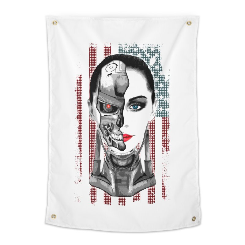Cyborg Trophy Home Tapestry by WaWaTees Shop