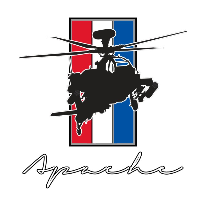 Apache Helicopter by WaWaTees Shop
