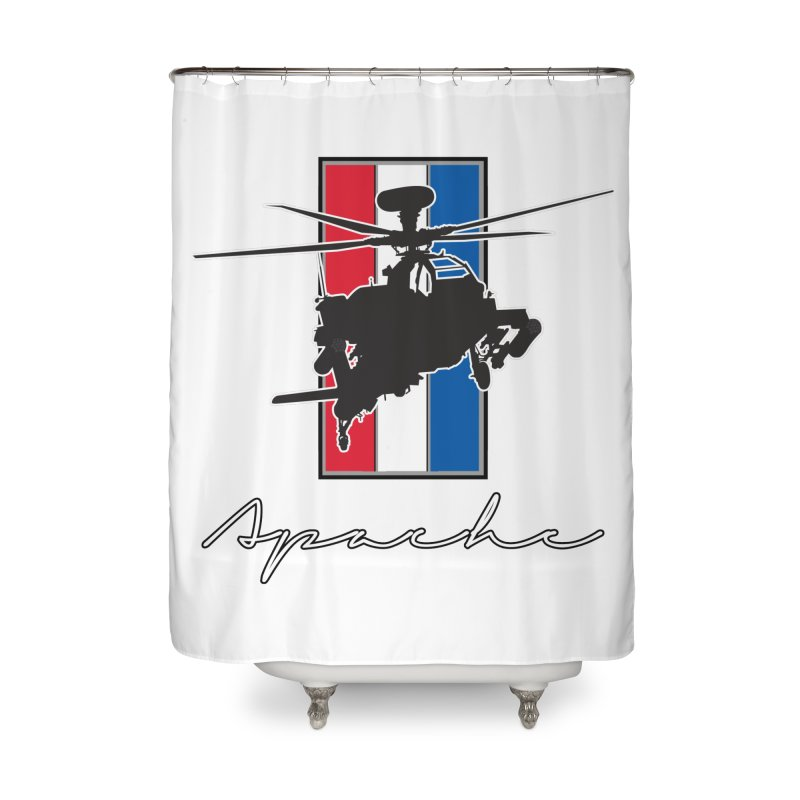 Apache Helicopter Home Shower Curtain by WaWaTees Shop