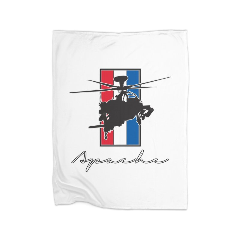 Apache Helicopter Home Blanket by WaWaTees Shop