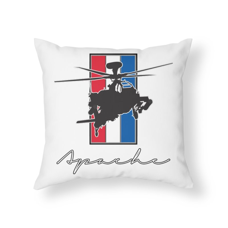 Apache Helicopter Home Throw Pillow by WaWaTees Shop
