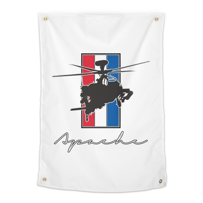 Apache Helicopter Home Tapestry by WaWaTees Shop