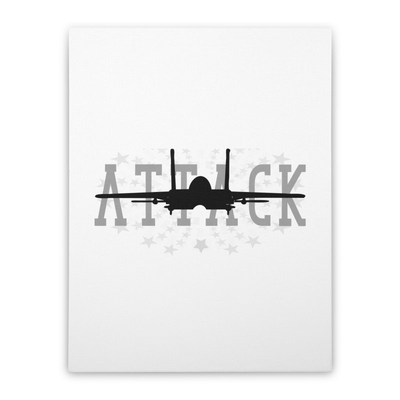 Tomcat Attack Home Stretched Canvas by WaWaTees Shop