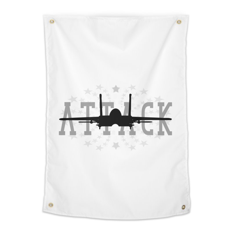 Tomcat Attack Home Tapestry by WaWaTees Shop