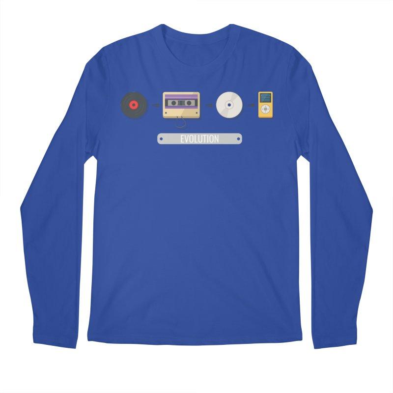 Music Evolution Men's Longsleeve T-Shirt by WaWaTees Shop