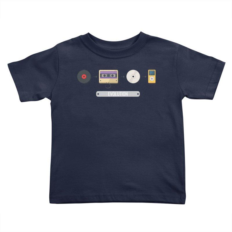 Music Evolution Kids Toddler T-Shirt by WaWaTees Shop