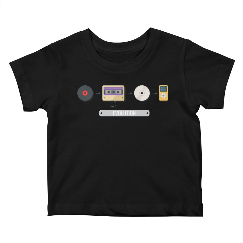 Music Evolution Kids Baby T-Shirt by WaWaTees Shop