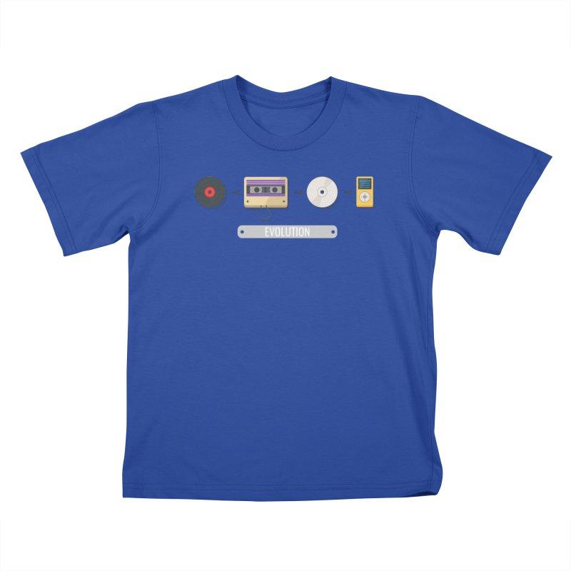 Music Evolution Kids T-shirt by WaWaTees Shop