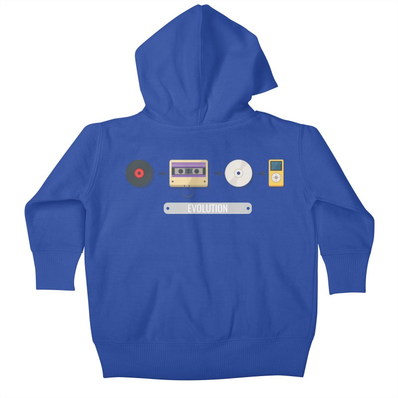 Music Evolution Kids Baby Zip-Up Hoody by WaWaTees Shop