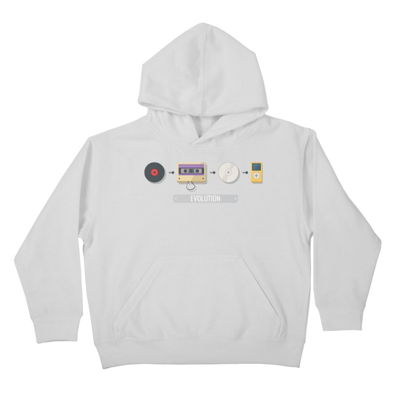 Music Evolution Kids Pullover Hoody by WaWaTees Shop