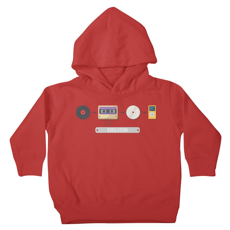 Music Evolution Kids Toddler Pullover Hoody by WaWaTees Shop