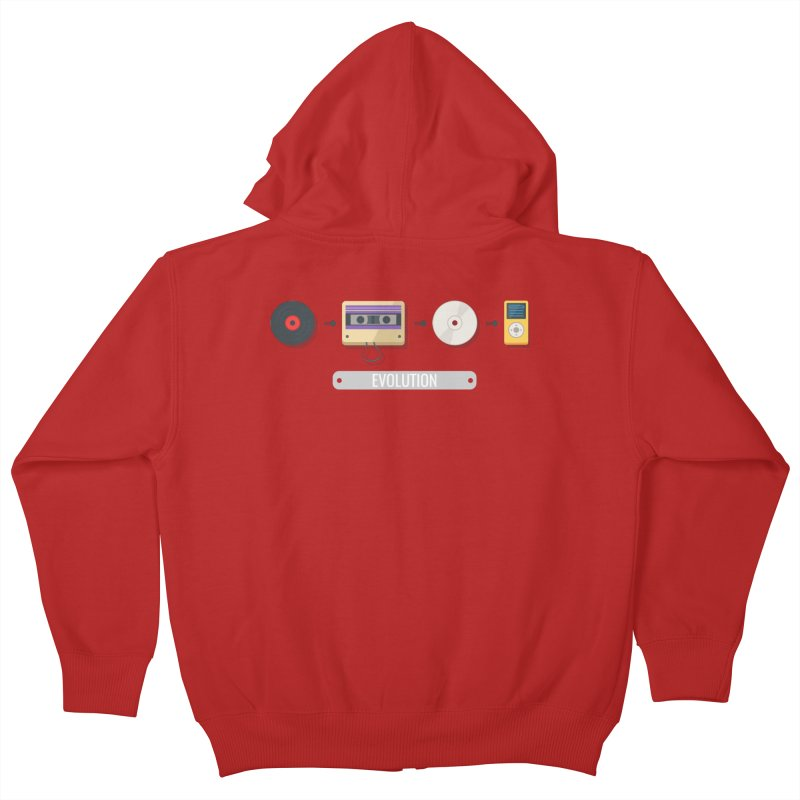Music Evolution Kids Zip-Up Hoody by WaWaTees Shop