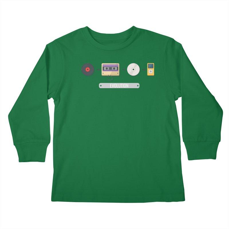 Music Evolution Kids Longsleeve T-Shirt by WaWaTees Shop