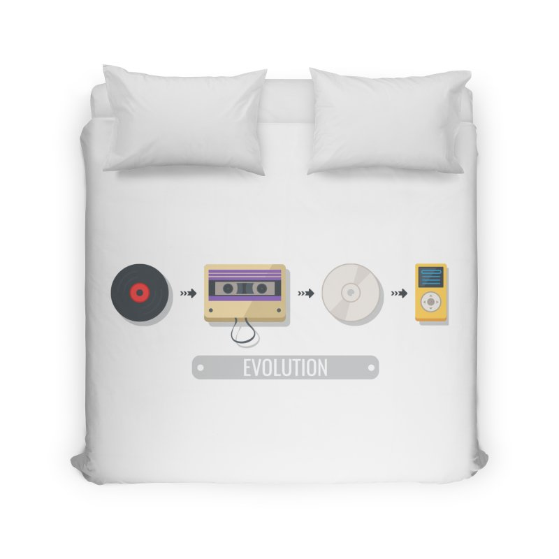 Music Evolution Home Duvet by WaWaTees Shop