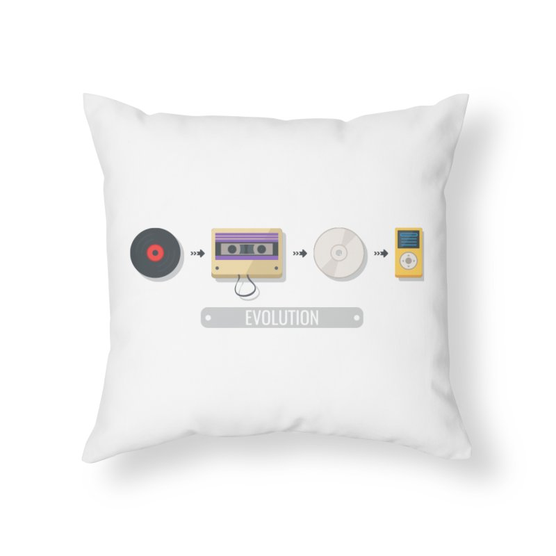 Music Evolution Home Throw Pillow by WaWaTees Shop