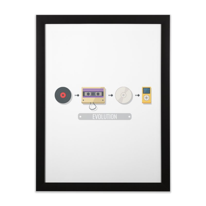 Music Evolution Home Framed Fine Art Print by WaWaTees Shop