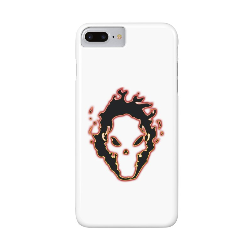 Flaming Skull Accessories Phone Case by WaWaTees Shop