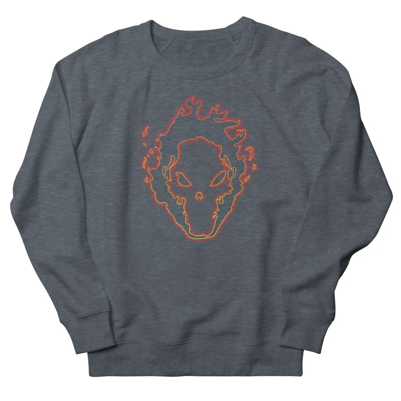 Flaming Skull Women's Sweatshirt by WaWaTees Shop