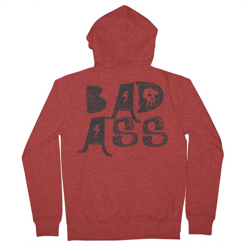 Bad Ass Women's Zip-Up Hoody by WaWaTees Shop