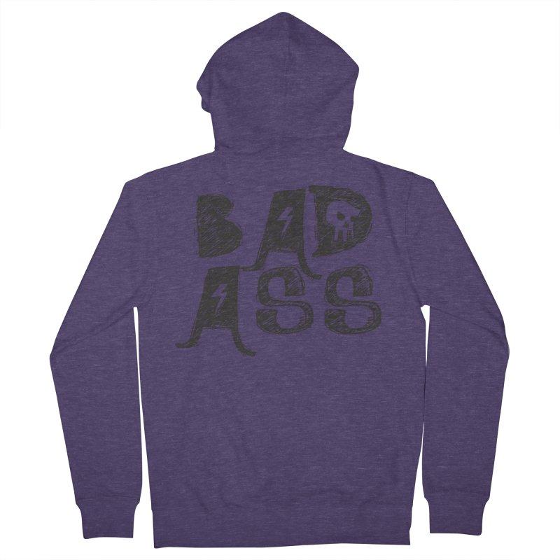 Bad Ass Men's Zip-Up Hoody by WaWaTees Shop