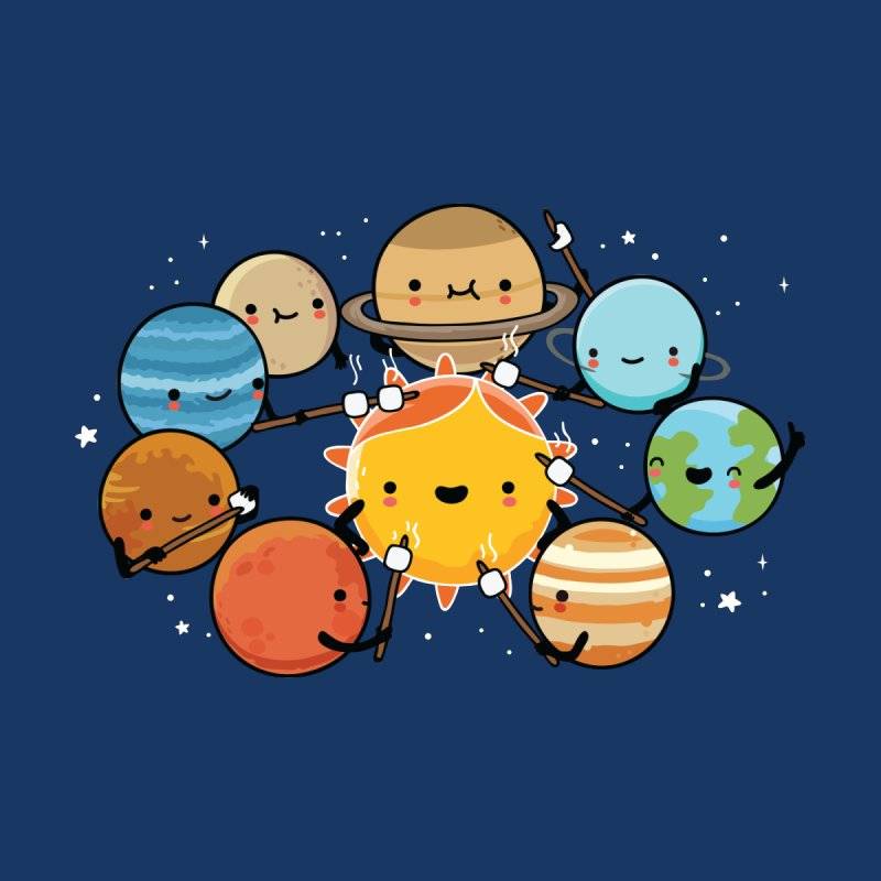 Planets camping Kids T-Shirt by wawawiwadesign's Artist Shop
