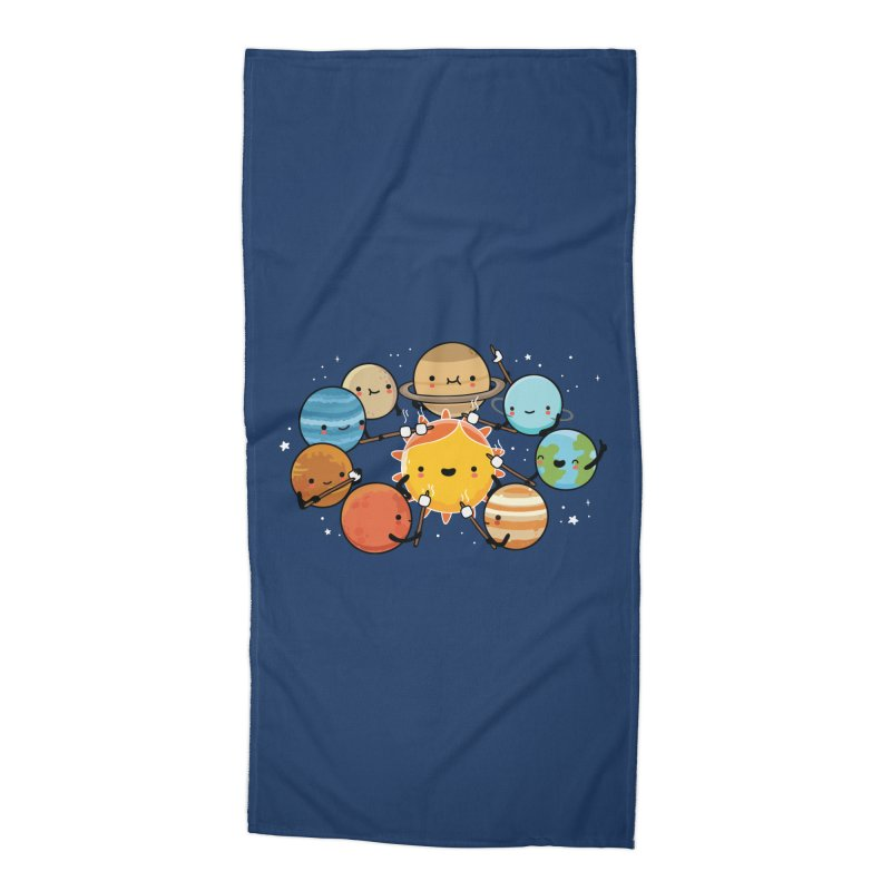 Planets camping Accessories Beach Towel by wawawiwadesign's Artist Shop