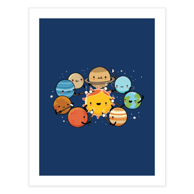 Planets camping Home Fine Art Print by wawawiwadesign's Artist Shop