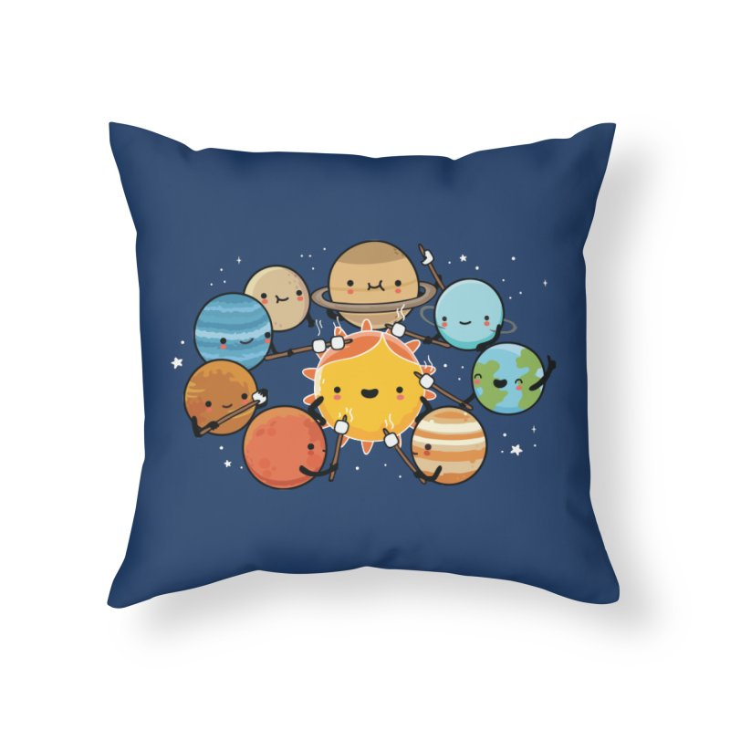 Planets camping Home Throw Pillow by wawawiwadesign's Artist Shop