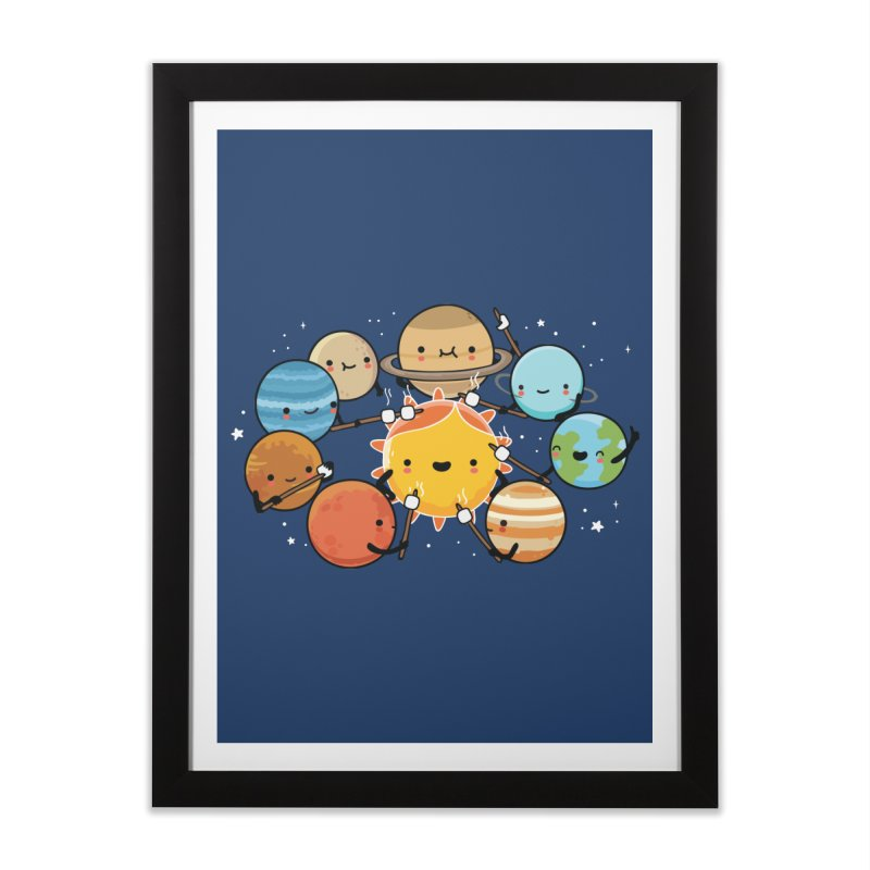 Planets camping Home Framed Fine Art Print by wawawiwadesign's Artist Shop