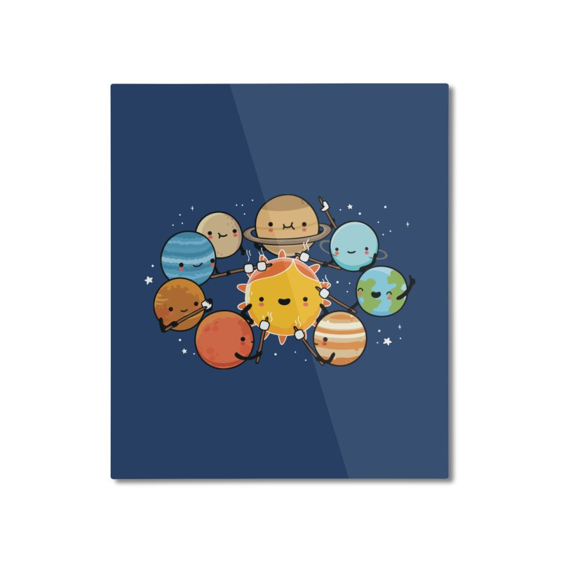 Planets camping Home Mounted Aluminum Print by wawawiwadesign's Artist Shop