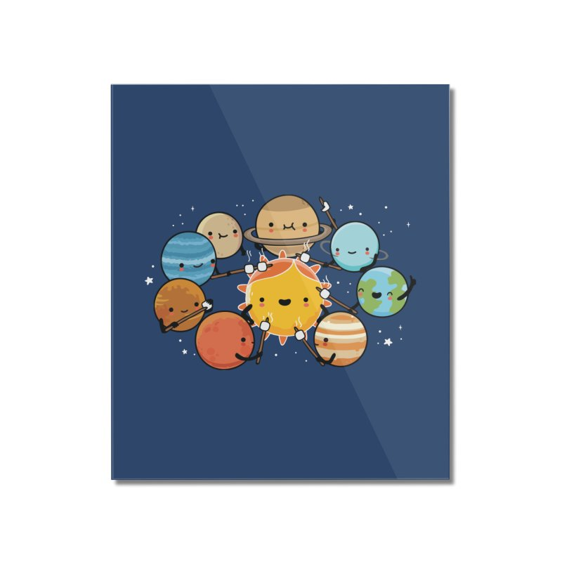 Planets camping Home Mounted Acrylic Print by wawawiwadesign's Artist Shop
