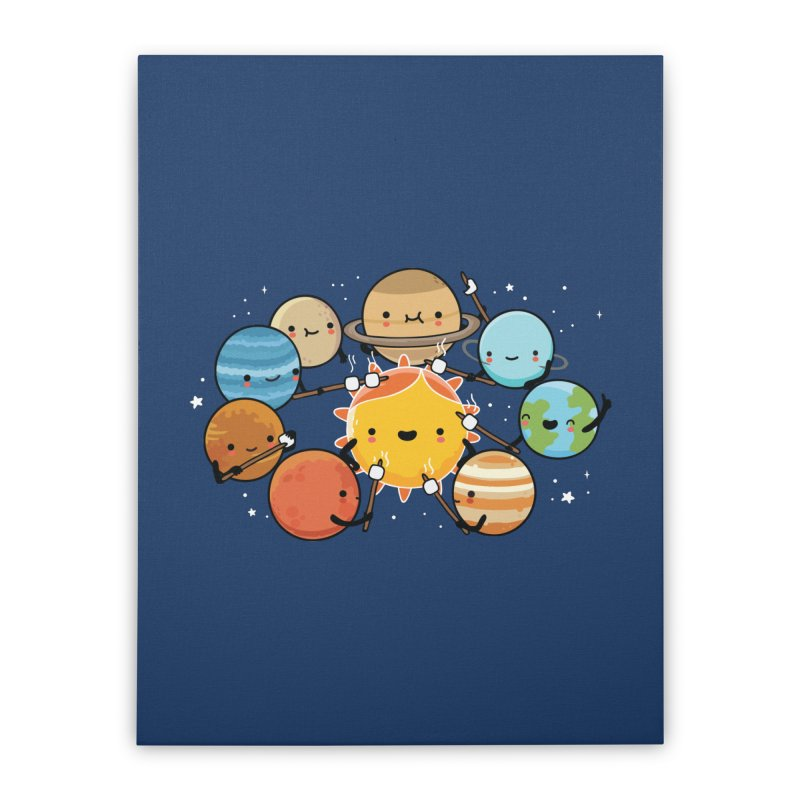 Planets camping Home Stretched Canvas by wawawiwadesign's Artist Shop
