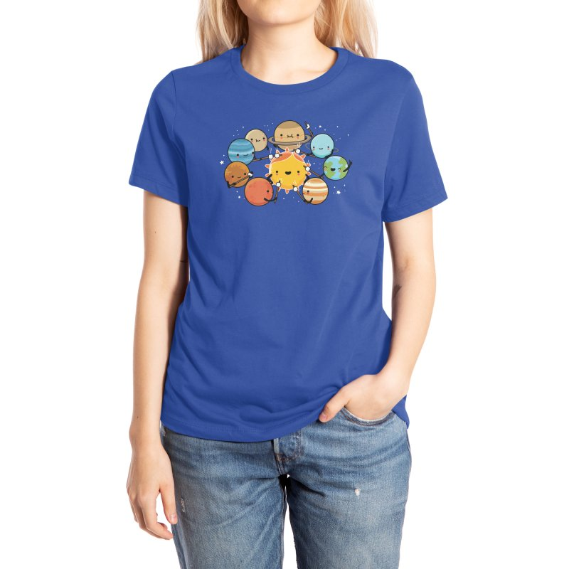 Planets camping Women's T-Shirt by wawawiwadesign's Artist Shop